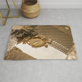 Reflective Clock In Pittsburgh Rug