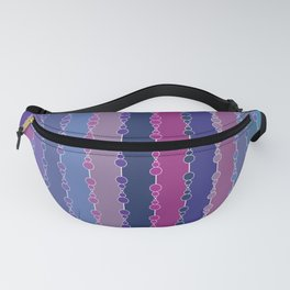Multi-faceted decorative lines 3 Fanny Pack