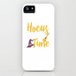 It's Hocus Pocus Time Witches Happy Halloween iPhone Case