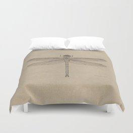 Dragonfly Fossil Dos Duvet Cover