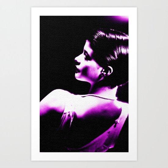 VIOLET WOMAN  Art Print
