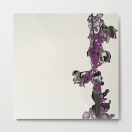 Purple Overpour - Number 2 Metal Print