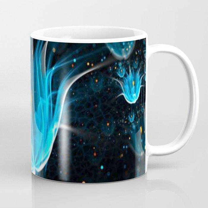3D Blue Flower V4 Coffee Mug