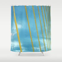 cage Shower Curtains featuring The cage by Maria Julia Bastias