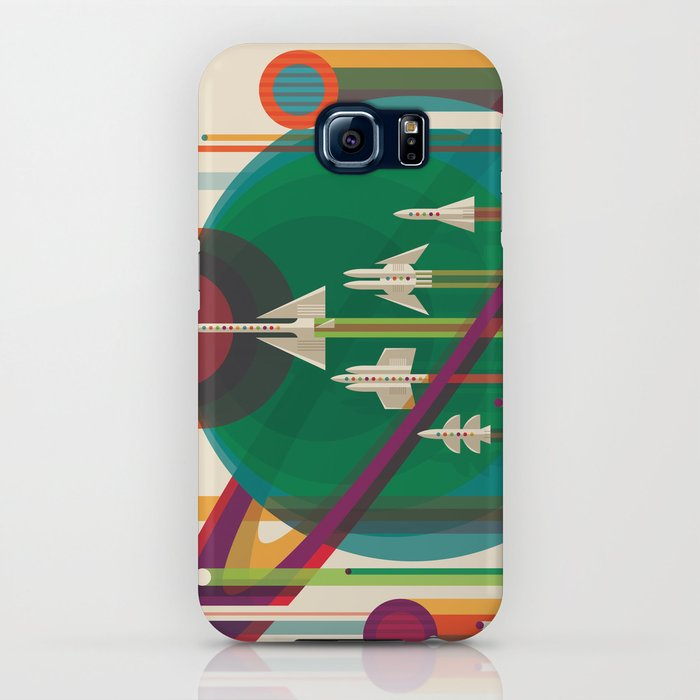 NASA Retro Space Travel Poster The Grand Tour iPhone Case