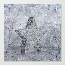 SilverStar ornament  Canvas Print