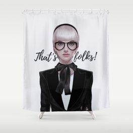 That's__folks! Shower Curtain