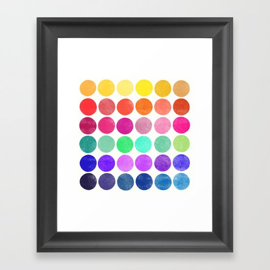 colorplay 6 Framed Art Print