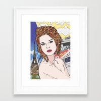 france Framed Art Prints featuring France by • PASXALY •