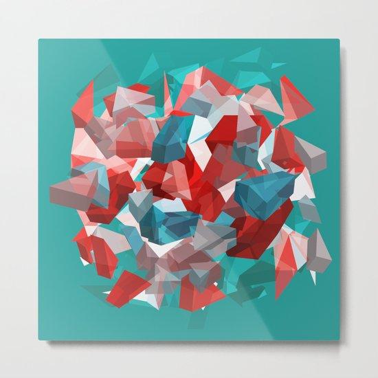 exploding polygones Metal Print