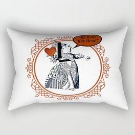 Off With Her Head! - Queen Of Hearts - Alice In Wonderland Rectangular Pillow