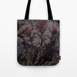 Crimson Desert Flower Tote Bag
