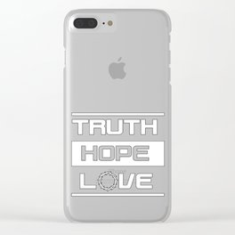 Christian Design - Truth, Hope and Love Clear iPhone Case
