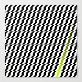 A Stripe of Green Canvas Print