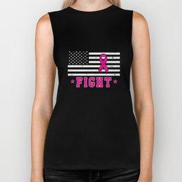 American Flag Breast Cancer Awareness Biker Tank
