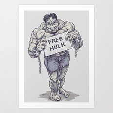 Free Hulk Art Print