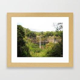 A Glimpse of Paradise on Mauritius Framed Art Print