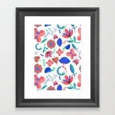 Little flowers and friends Framed Art Print