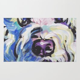Golden Doodle Dog Portrait Pop Art painting by Lea Rug