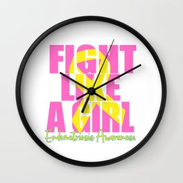 Endometriosis fight Wall Clock