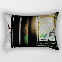 No Intuition, No Judgment Rectangular Pillow