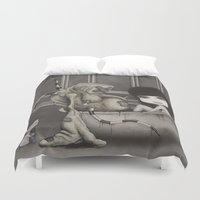 "dirty dancing Duvet Covers featuring ""Dirty"" by Wick Bennett"