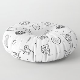 Modern Juice Pattern Floor Pillow