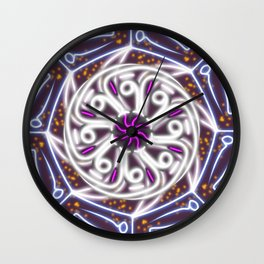 Arabic Calligraphy Mandala - the Moon Wall Clock