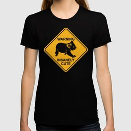 Warning! Insanely Cute - Funny Koala Bear Road Sign T-shirt