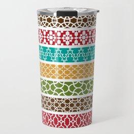 Moroccan Stripe Pattern Travel Mug