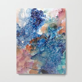 She has a lot to say Metal Print