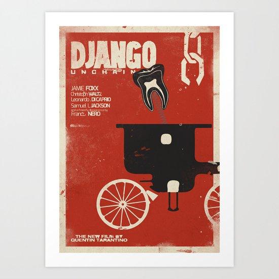 Django Unchained - Quentin Tarantino Alternative movie poster (Di Caprio, Walt, Foxx) Art Print