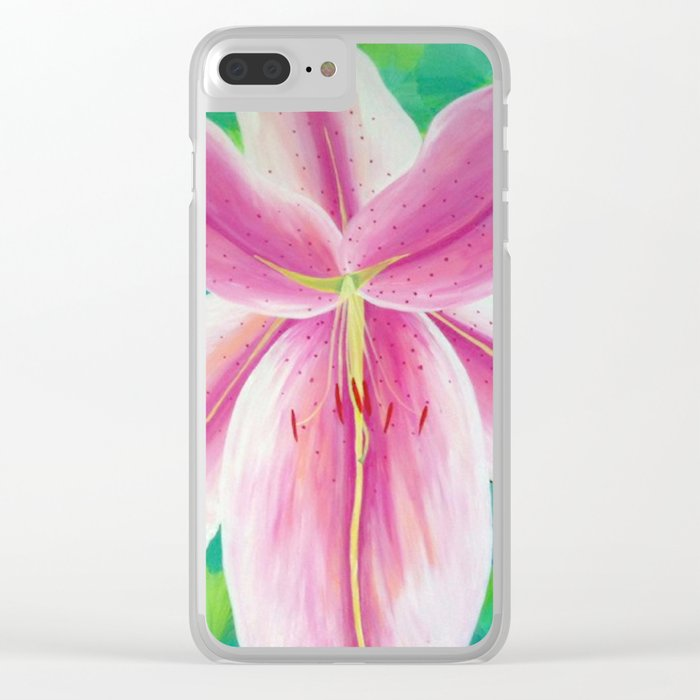 Jane's Lily Clear iPhone Case