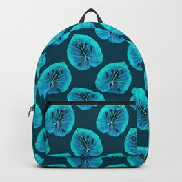 Aqua Tropical Frog On A Leaf Backpack