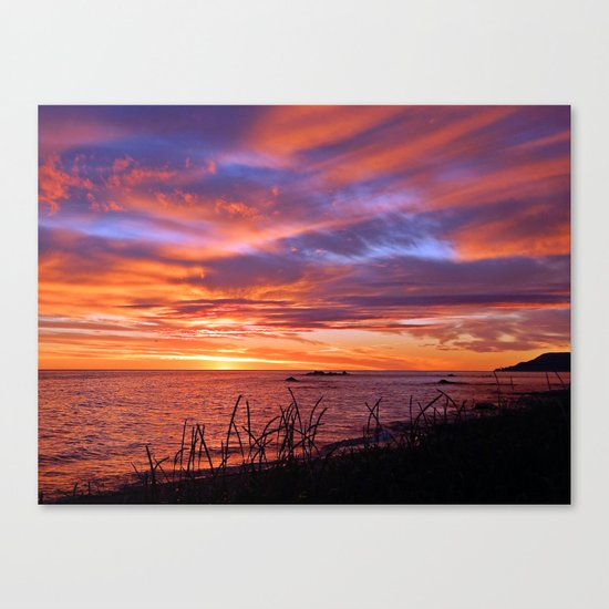 First Light at Sea Canvas Print