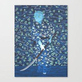 Samurai Cat Canvas Print