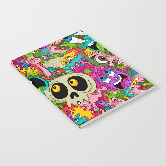 Puke Pattern Notebook