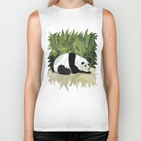 lee pace Biker Tanks featuring Driving at Panda Pace by Distortion Art