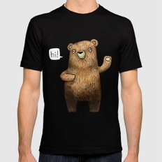 The Little Bear MEDIUM Black Mens Fitted Tee