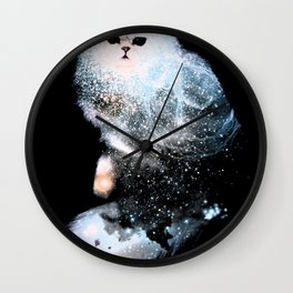 Celestial Cats - The Persian and the Ashes of the First Stars Wall Clock
