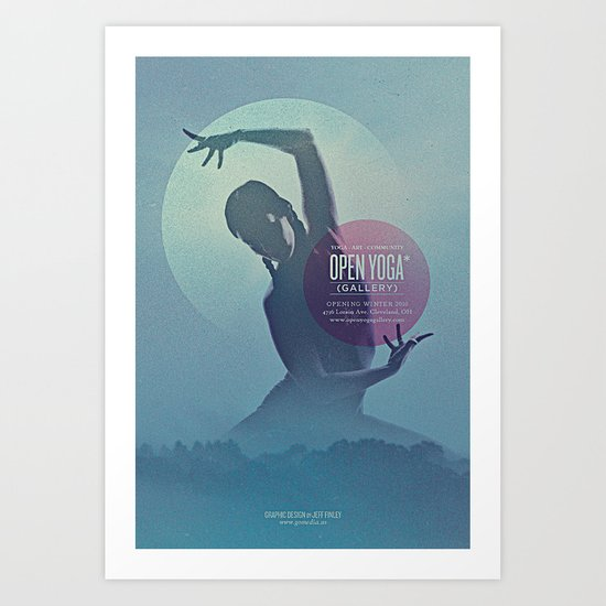Open Yoga Gallery Art Print