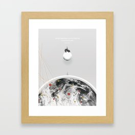 Clouds Through Coloured Glass Framed Art Print