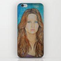 jennifer lawrence iPhone & iPod Skins featuring Jennifer Lawrence by Jenn