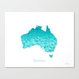 Australia Map  Canvas Print