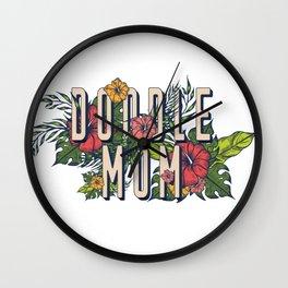 Floral Doodle Mom Wall Clock