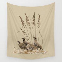 Chukar Partridges Wall Tapestry