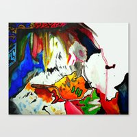 joy Canvas Prints featuring Joy by Aaron Carberry