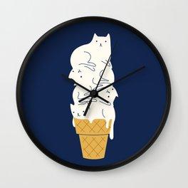 Meowlting Wall Clock