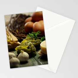 Fresh Pasta and ingredients Stationery Cards