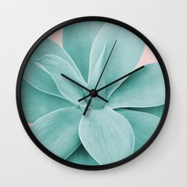 Blush Agave Romance #1 #tropical #decor #art #society6 Wall Clock